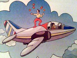 Evidemment que je sais jongler avec des abricots sur un avion en marche ! T'es con hein !